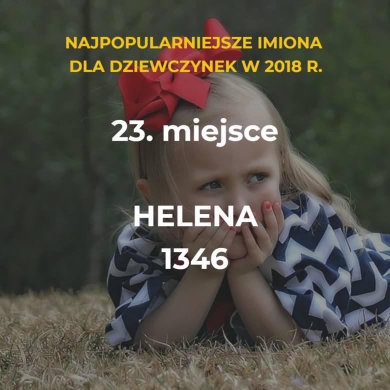 Ranking najpopularniejszych imion żeńskich 2018 [TOP 50