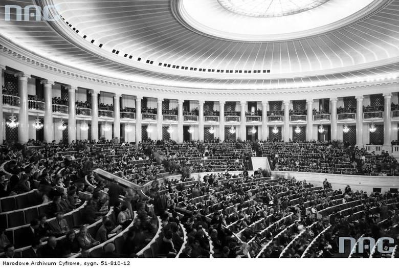 Widownia w Sali Kongresowej, 1961 rok