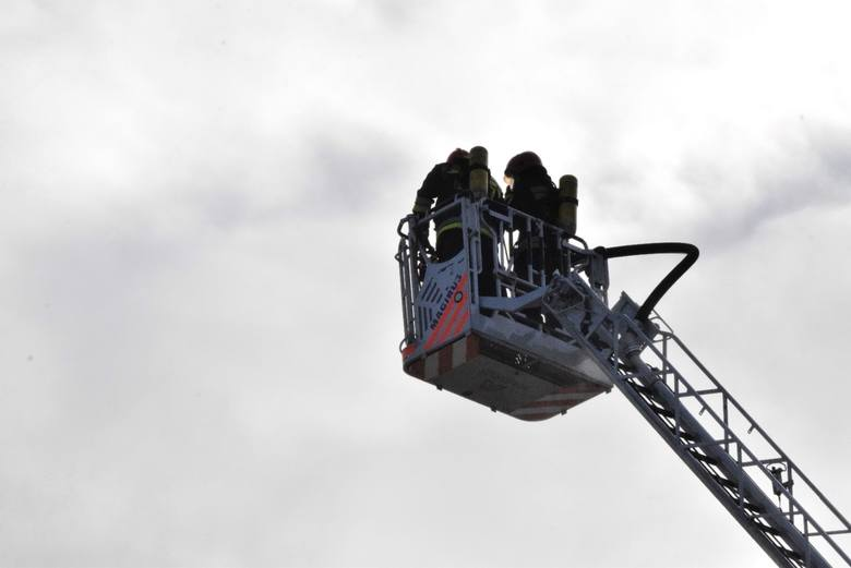 Pożar wybuchł w kamienicy w Bielsku-Białej