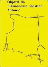 Siemianowice Śląskie: Objazd do Chorzowa