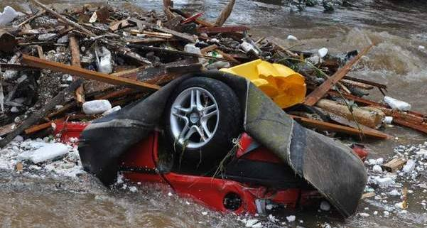 Zniszczenia w Bogatyni były ogromne.