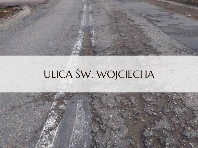 Oto najbardziej dziurawe ulice w Koszalinie. Typowali nasi internauci