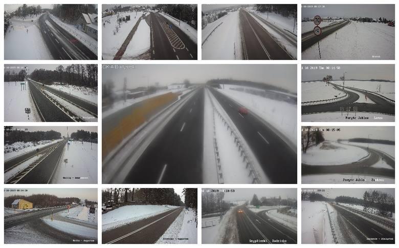 Na podlaskich drogach panują bardzo ciężkie warunki - ostrzega GDDKiA. Jak wygląda sytuacja na żywo można podejrzeć na kamerach monitoringu.