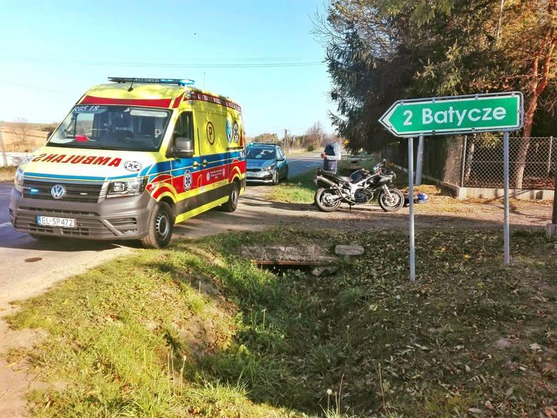 Wypadek w Orzechowcach pod Przemyślem. Ranny motocyklista i jego pasażerka