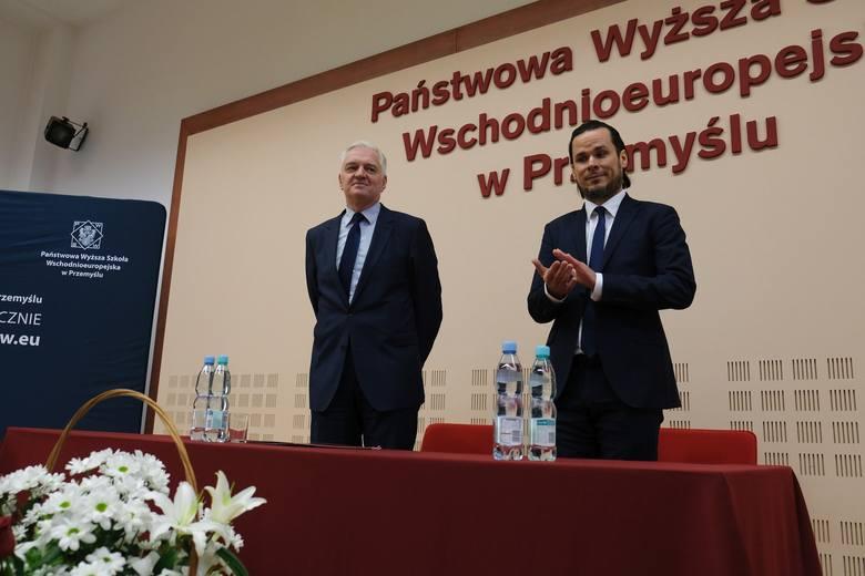 Jarosław Gowin, minister nauki i szkolnictwa wyższego przyjechał w piątek do Przemyśla. Wicepremier przedstawił studentom Państwowej Wyższej Szkoły Wschodnioeuropejskiej
