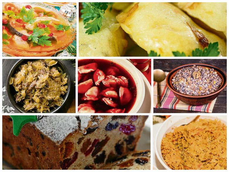 Potrawy wigilijne - 12 potraw na wigilię - 12 potraw na wigilijny stół - lista 12 potraw na wigilię - 12 wigilijnych potraw - przepisy