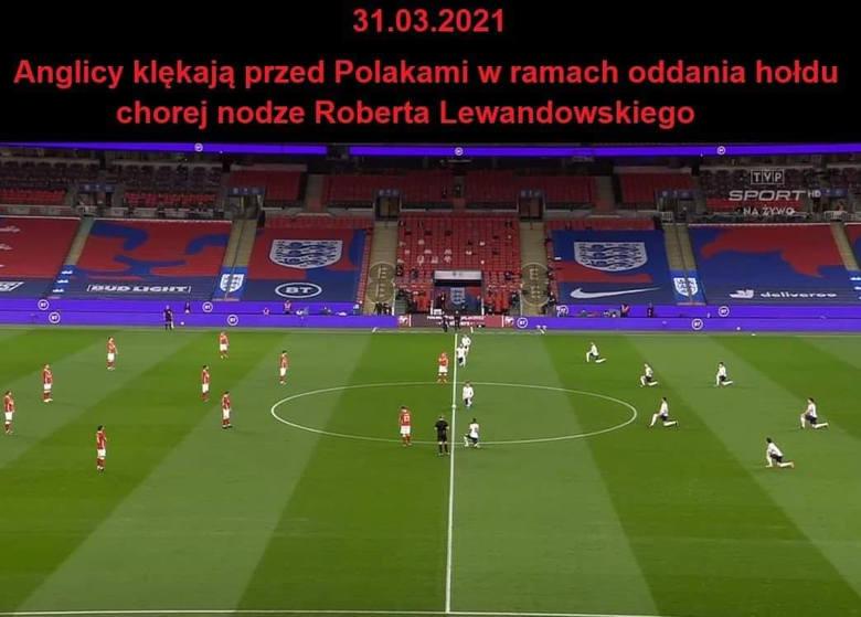 Reprezentacja Polski przegrała 1:2 z Anglią. Błędy naszego zespołu bezbłędnie wypunktowali internauci, którzy stworzyli szereg świetnych memów. Krychowiak