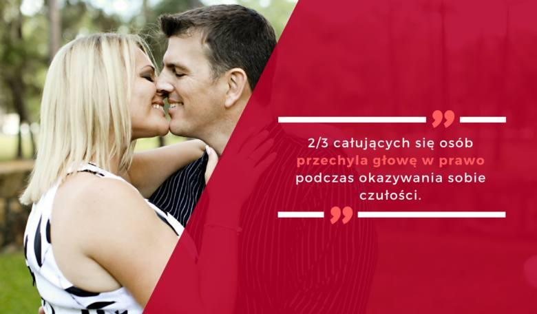 2/3 całujących się osób przechyla głowę w prawo podczas okazywania sobie czułości.