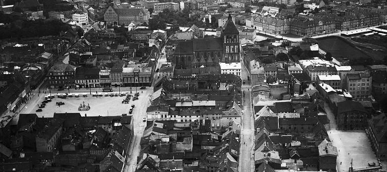 To lotnicze zdjęcie Koszalina zostało zrobione w latach 30. (pochodzi ze zbioru archiwistów z Greifswaldu)Gdy  startowaliśmy jako miasto, Ameryka nie