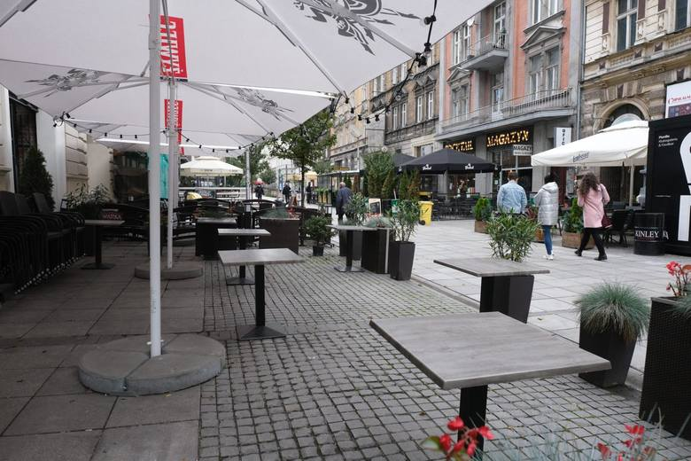 Mariacka w Katowicach pod koniec października 2020 roku