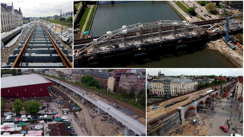 Kraków. Wielkie postępy na ogromnej inwestycji. Kładą już szyny [ZDJĘCIA]