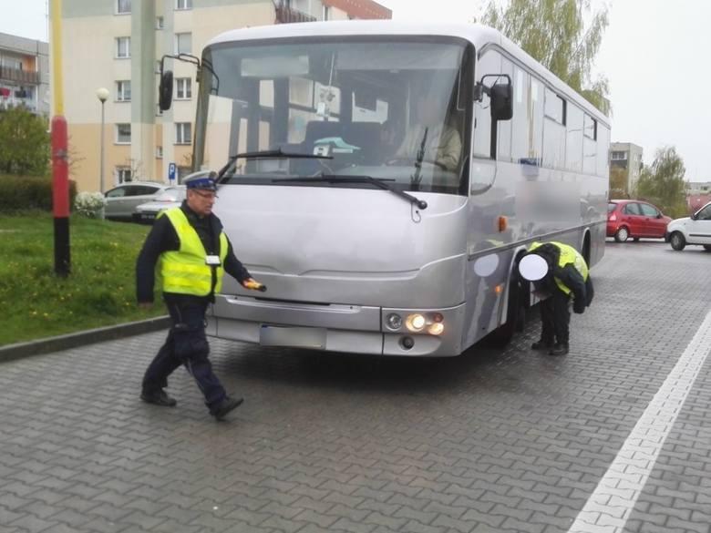 kontrola autobusów w Świebodzinie