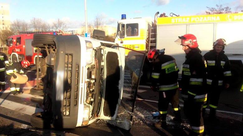 wypadek na rondzie w Gorzowie