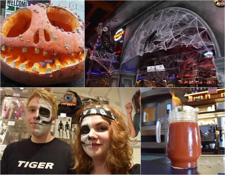 Krwawe napoje oraz burgery i drinki z dynią - wrocławskie lokale przygotowały się na Halloween. Praktycznie przed każdym sklepem stoi złowieszcza dynia,