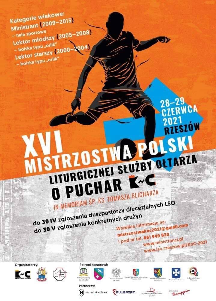 XVI Mistrzostwa Polski Liturgicznej Służby Ołtarza w piłce nożnej. Do Rzeszowa przyjeżdża 72 drużyny ministrantów z całej Polski