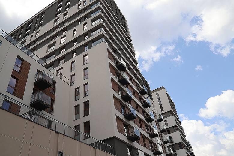 Tak wygląda widok z tarasu na siódmym piętrze budynku na osiedlu Ilumino przy Kilińskiego 121.