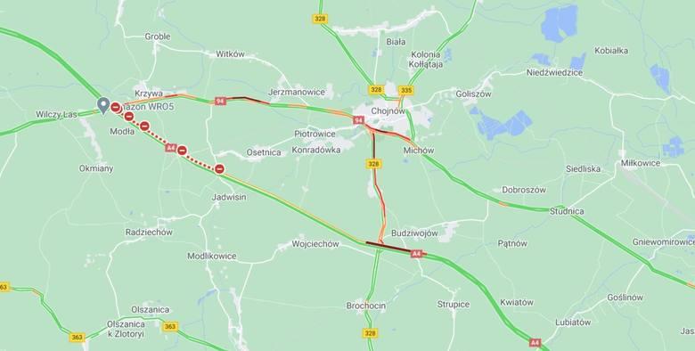 Śmiertelny wypadek i gigantyczny korek na autostradzie A4
