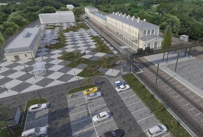 Tak po przebudowie prezentować będzie się otoczenie dworca kolejowego w Sosnowcu-Maczkach, bezcennej pamiątki z czasów początków historii polskiej kolei.