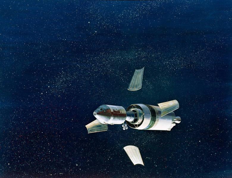 Apollo 8 oddziela się od III stopnia rakiety startowej