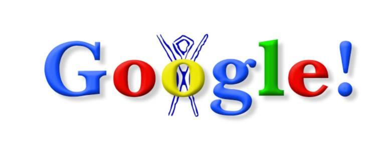 Doodle Burning Man (30.09.1998) - pierwsze Google Doodle.