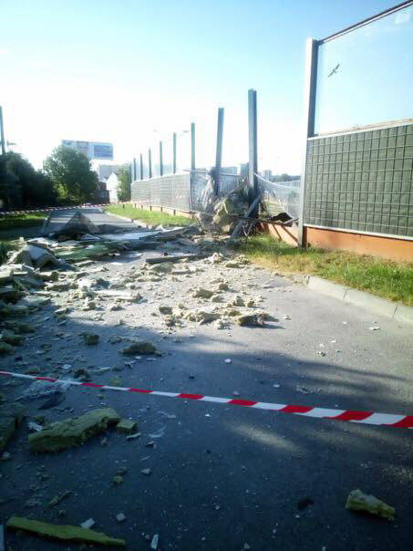 Miejsce wypadku na ul. Krakowskiej w Rzeszowie.