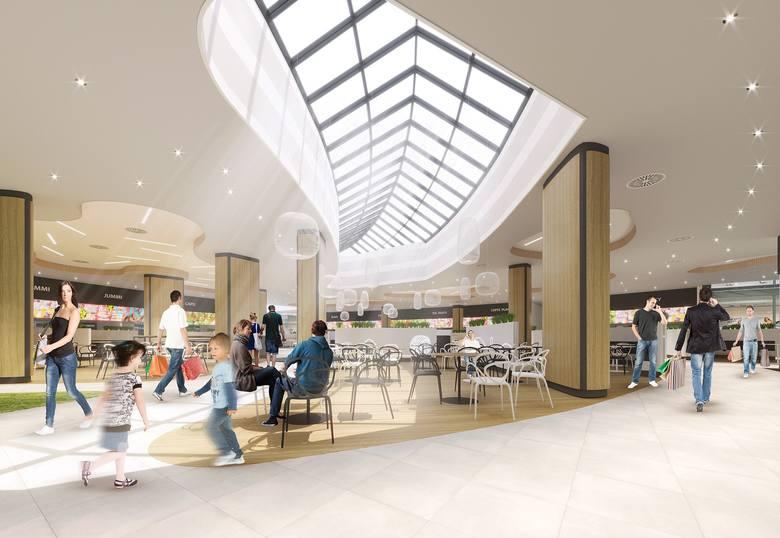Wizualizacja wnętrza Focus Mall. Wersja poglądowa. Ostateczny projekt może ulec zmianie.