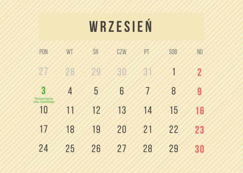 Kalendarz roku szkolnego 2018/2019 ONLINE DO POBRANIA i WYDRUKOWANIA. Dni wolne i terminy ferii zimowych w roku szkolnym 2018/2019