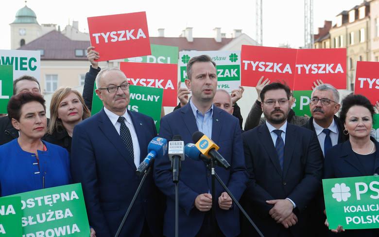 Ostatni dzień kampanii wyborczej. Władysław Kosiniak-Kamysz i Stanisław Tyszka w Rzeszowie.