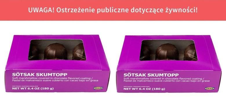 Główny Inspektorat Sanitarny poinformował, że popularne ciastka czekoladowe Sötsak Skumtopp zawiera serwatkę w proszku z mleka. Takiej informacji jednak