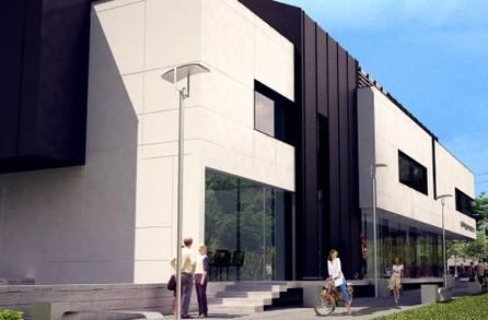 Tak będzie wyglądał budynek handlowo - usługowy Pigeon w Kielcach. Budowa zakończy się w przyszłym roku.