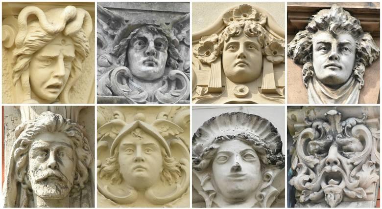 My wytropiliśmy takie oblicza na zielonogórskich kamienicach. Z książką dra Grzegorza Biszczanika znajdziecie aż 65 twarzy!
