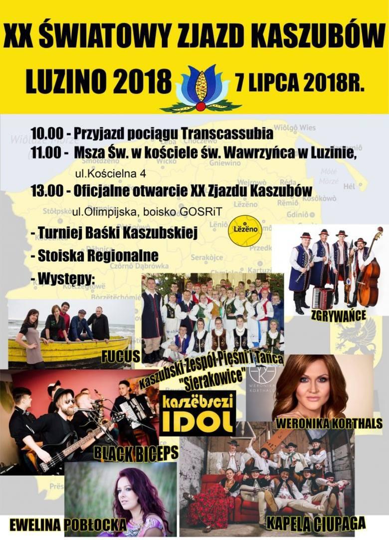 XX Światowy Zjazd Kaszubów 2018 w Luzinie w sobotę, 7 lipca [program, atrakcje, galeria]