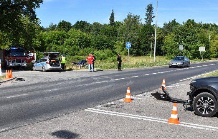 Skutki wypadku z udziałem motocykla i toyoty