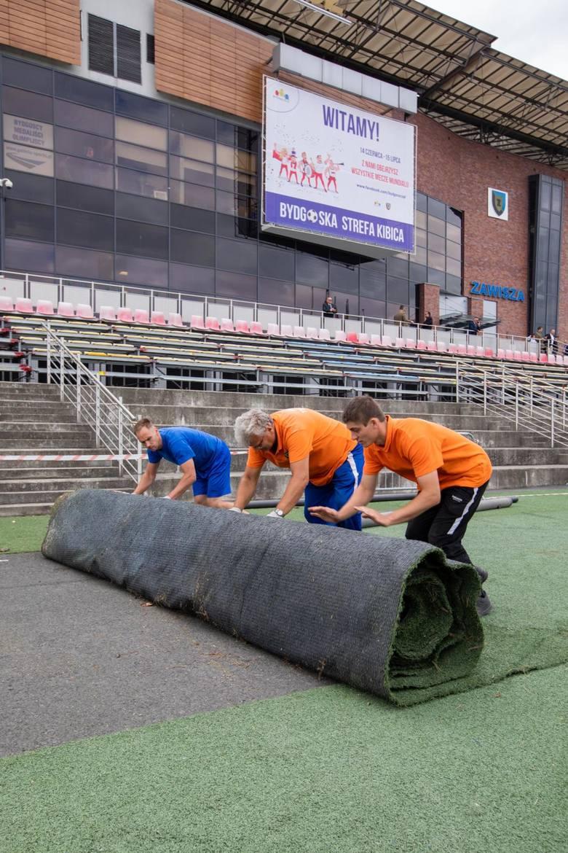 Przy ul. Gdańskiej w Bydgoszczy rozpoczyna się budowa strefy kibica. Pierwszy mecz Mistrzostw Świata 2018 w Rosji będzie można obejrzeć w dniu otwarcia