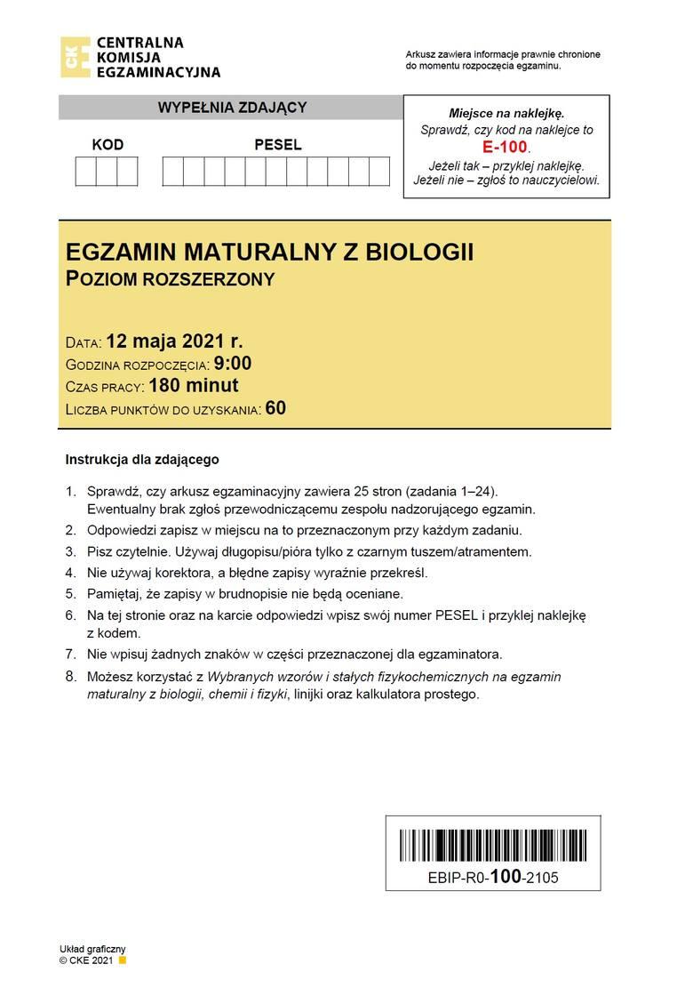 ODPOWIEDZI do matury 2021 z biologii. Pojawiają się na bieżąco od godz. 14 >>>