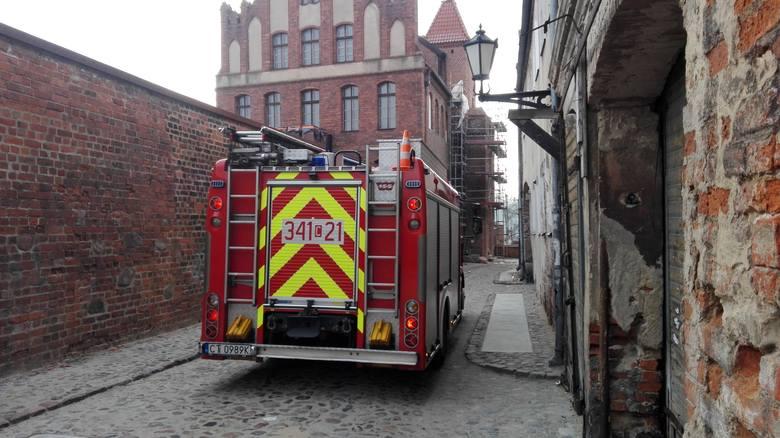 Alarm okazał się fałszywy. Czujkę przeciwpożarową uruchomiły prowadzone w budynku prace remontowe w Dworze Mieszczańskim