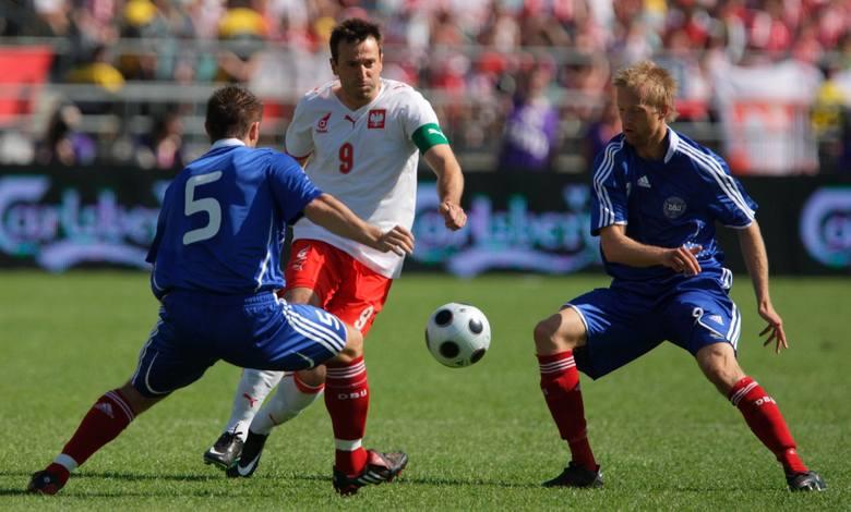 Maciej Żurawski (w środku) rozegrał 72 mecze w reprezentacji Polski i zdobył w nich 17 bramek