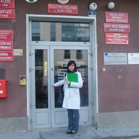 Agnieszka Dłubała sprawdzała, ile dotacji dało Starostwo Powiatowe w Zielonej Górze.