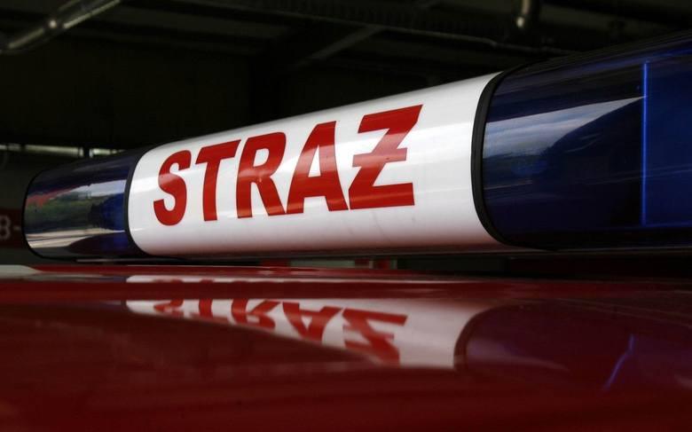 Kraków. Kierowca wjechał w słup, strażacy musieli go usunąć