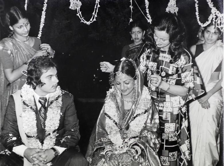 Andrzej Łuszczewski i Anita Agnihotri podczas hinduskiego ślubu