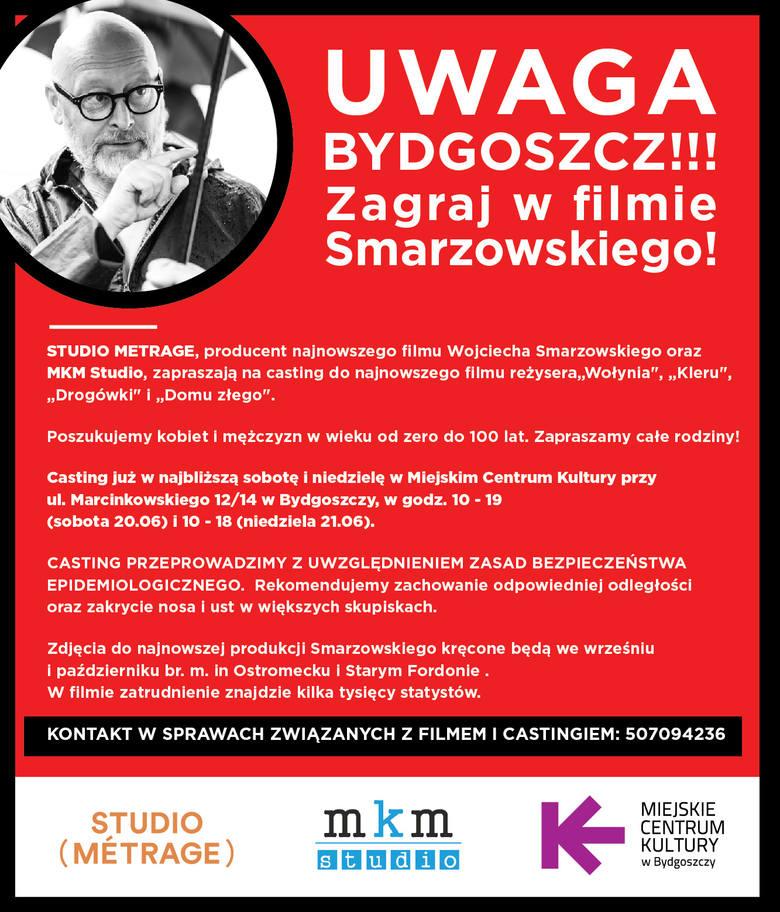 Chcesz wystąpić w filmie Wojciecha Smarzowskiego? Przyjdź na casting w weekend (21-22.06.) w Bydgoszczy