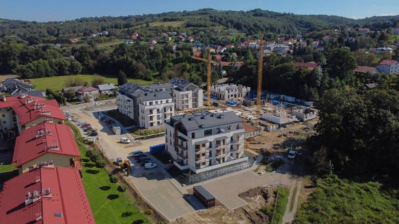 Infores Developer buduje osiedle Sun Park na ul. Rosłońskiego w Przemyślu. Zobacz zdjęcia z drona