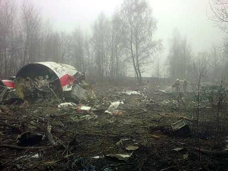 Katastrofa w Smoleńsku. Wrak prezydenckiego tupolewa