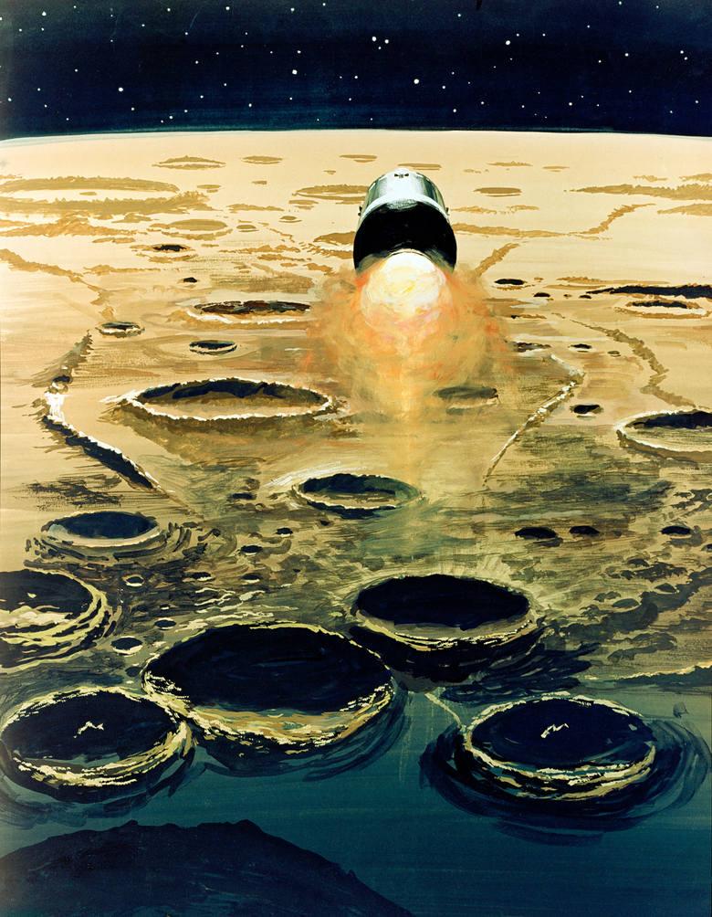 Apollo 8 uruchamia silnik rakietowy, by opuścić orbitę księżycową i skierować się ku Ziemi