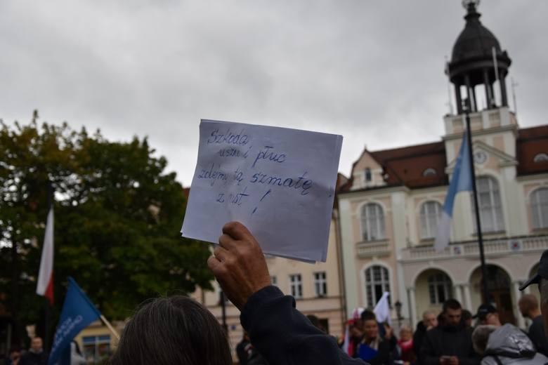Protest w Wejherowie