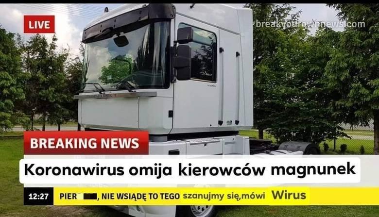 Zobacz memy o kierowcach ciężarówek