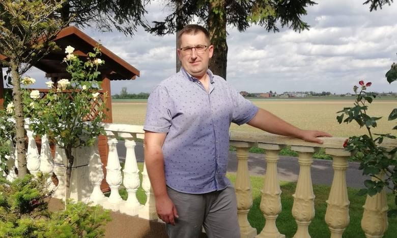 Rolnik Mariusz Pawlak z Poddębic