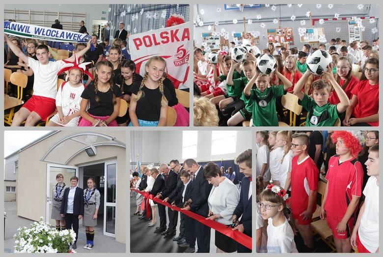 W środę uroczyście otwarto salę gimnastyczną przy Szkole Podstawowej w Kruszynie, gm. Włocławek. Nowy obiekt powstał przez rozbudowanie starej sali sportowej.