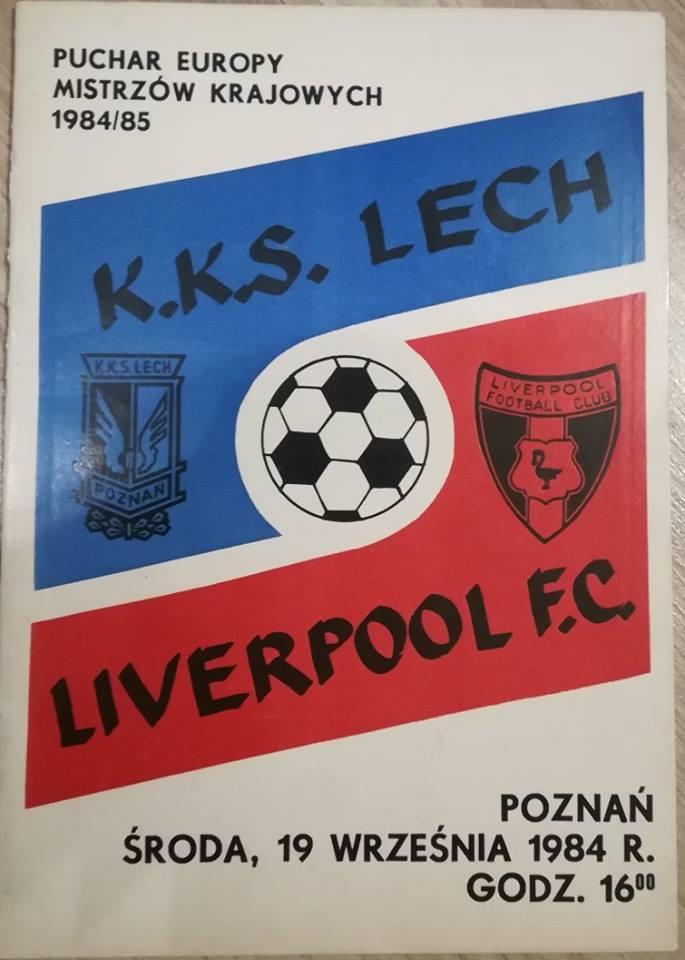 Program meczowy Lech - Liverpool z 1984 roku