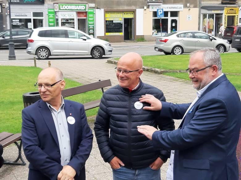 Poseł Jerzy Borowczak, Grzegorz Pellowski oraz poseł Piotr Adamowicz